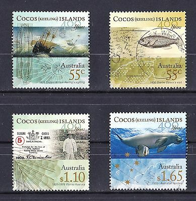 Cocos Islands 2009 400 Years Set of 4 Used