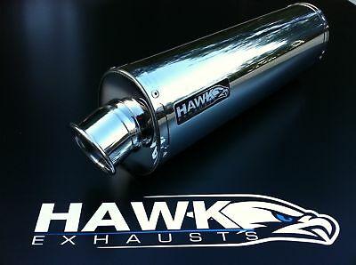 BMW K1300S 2009+ Stainless Steel Oval Road Legal Exhaust Silencer, UK Made
