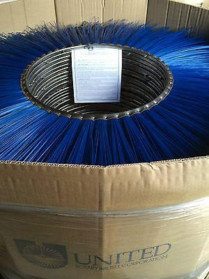 "United Rotary Sweeper Brush Poly Wafer, 19 1/2"" x 46"""