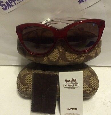 de6dd6ffa16 ... new arrivals coach ladies hc8064 l060 audrey sunglasses 5029 14  burgundy brand new 2ba76 70284