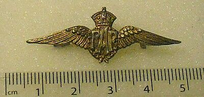 RAF SWEETHEART BROOCH, 9 ct GOLD FRONT  WW1 VINTAGE