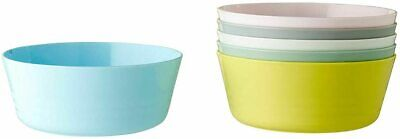 Ikea Kalas Bowls Children's Kids Plastic 6 Bowls Great for Parties and Meals New