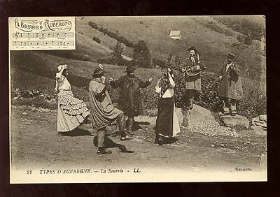 France Types d'Auvergne La Bourree LL Louis Levy PPC c1900s?