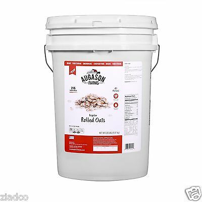 Augason Farms Regular Rolled Oats Emergency Survival Food Storage - 20 lbs Pail