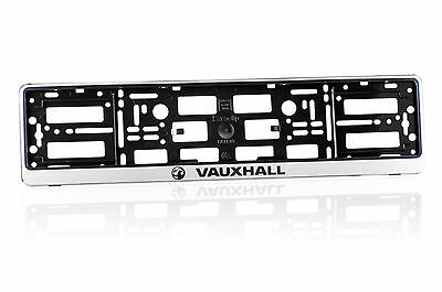 2x Silver ABS  Number Plate Surrounds Holder Frame for VAUXHALL RV 2