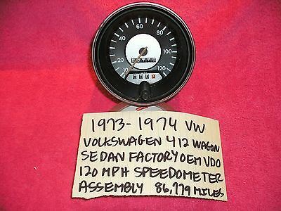 1973-1974 VW VOLKSWAGEN 412 FACTORY SPEEDOMTER CLUSTER ASSEMBLY FREE SHIPPING