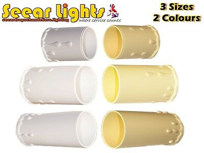5 Chandelier Candle Plastic Drips Light Pendant Bulb Cover Sleeve Antique Look