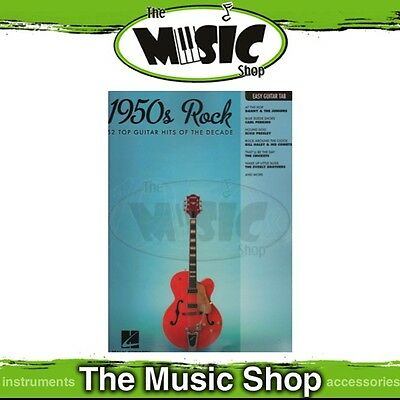 New 1950s Rock Music Book for Easy Guitar with Notes & Tablature