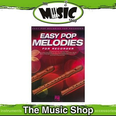 New Easy Pop Melodies for Recorder Music Book - Beginners Songbook