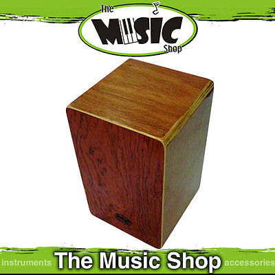 New MP Mini Cajon Drum with Adjustable Snare Wires - Rosewood Veneer Front