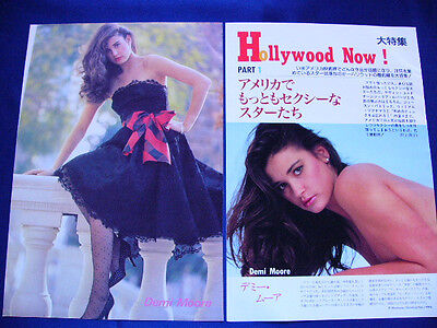 1990-1994 Demi Moore Japan 68 Clippings & Poster GHOST