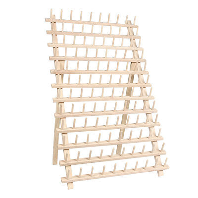 MEGA II SIZED WOOD THREAD RACK - HOLDS 120 SPOOLS SEWING THREAD - THREADART