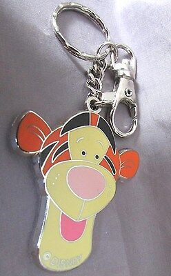 "Disney Winnie The Pooh 'tigger"" Stainless And Enamel1 3/4X 2 X5"" Key Quick Chain"