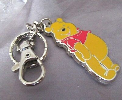 "Disney Winnie ""smiling The Pooh '"" Stainless  Enamel1 ""x 2"" X 5"" Key Quick Chain"