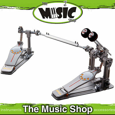 New Pearl P-3002C Demon Drive Twin Drum Pedal With Case - Chain Drive P3002C