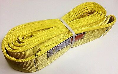 "(4"" x 20') Tow & Recovery Strap / Lifting Sling / Cargo Tie-Down Strap  2-PLY"