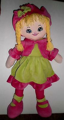 "26"" Tall Soft Doll Blond w/ Pink & Green outfit! Cute Plush Stuffed Toy Publix"