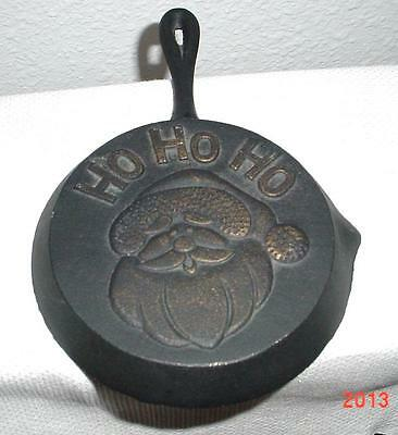 VTG Cutest Ho Ho Ho Black Iron Pan Country Style Hanging Pan W/handle Hard Found