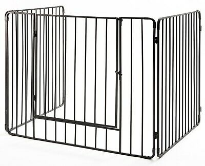 "Crannog Stove Guard Screen H30""  Vertical Bars Fireguard Firescreen & Front Gate"