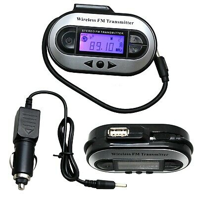 Car MP3 Wireless FM Transmitter 3.5mm Modulator LCD Charger for iPhone Android