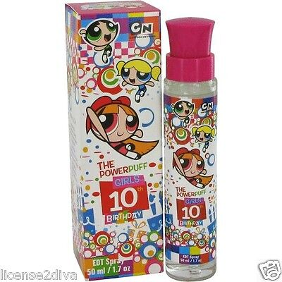 The Powerpuff Girls Cartoon Network Girls 10Th Birthday Perfume 1.7 0Z Bubbles