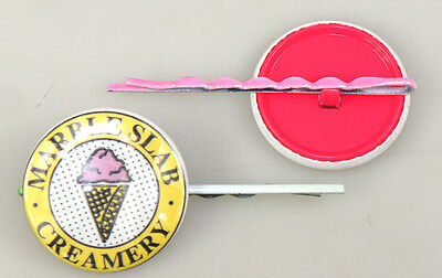 100 of 25mm Hair Pin Round Badge Button for Button Maker Badge Maker