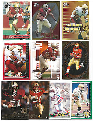 Lot of 30 Boston College Football Cards; NM-Mint; All College Uniforms