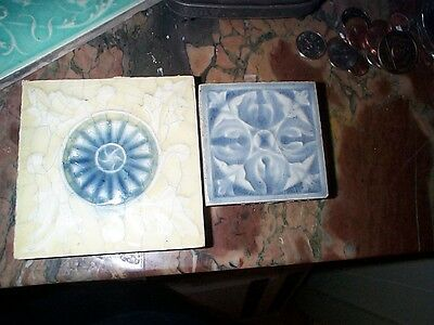 "ANTIQUE  VICTORIAN ART TILE  Providential 4.25"" square"