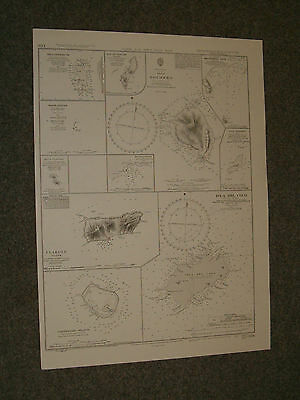 Vintage Admiralty Chart 1936 ISLANDS IN THE NORTH PACIFIC OCEAN 1952 edition