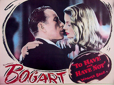 To Have and Have Not (1944)•Bogart & Bacall•Repro 20x28 Movie Poster Rare O/P