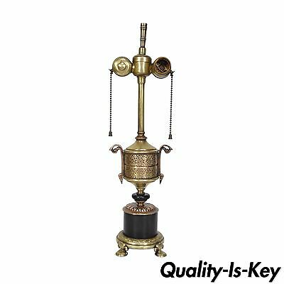 Vintage French Empire Style Petite Bronze Urn Form Boudoir Table Vanity Lamp