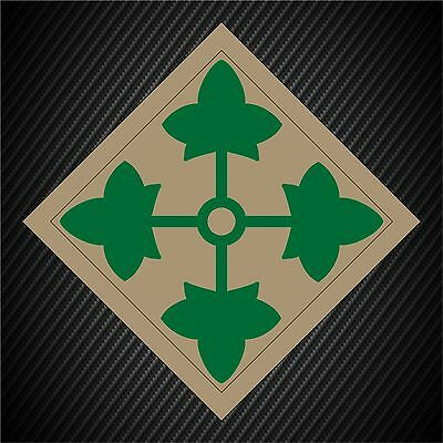 US Army 4th Infantry Division Insignia Military Graphics Decal Sticker Car