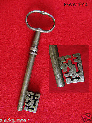 Very Rare Genuine 1700's French Wire Bow Skeleton Key w/ Hand Cut Complex Bit • CAD $239.39