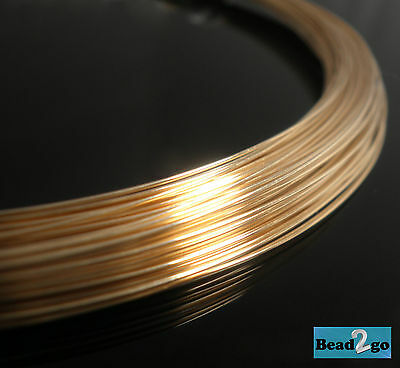 26 Gauge 14K Gold Filled Round Beading Wire Dead Soft Jewellery Making Supplies