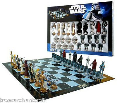 Star Wars Chess Set Game Board Figurines 3D Pieces Play Kids Adults Gift Box