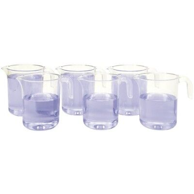 Gowi Messbecher mit Griff, transparent (6er Pack)