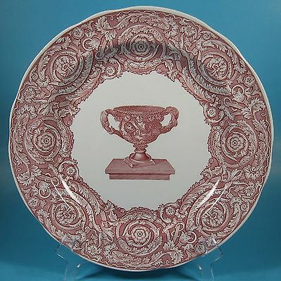 Spode Archive Collection Victorian Series WARWICK VASE Dinner Plate Cranberry