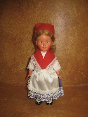 Vintage Wind Up Doll Has Metal Key She Turns In Circles