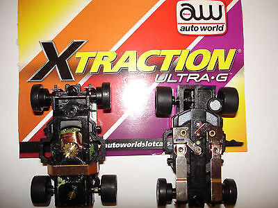 AUTO WORLD ~ 2 New Xtraction Ultra G Chassis ~ ALSO FITS AFX, AW, JL