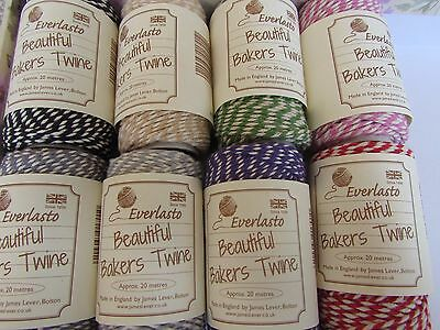 Everlasto Spool of asst Striped Bakers Twine 20m for gifts/cardmaking/weddings