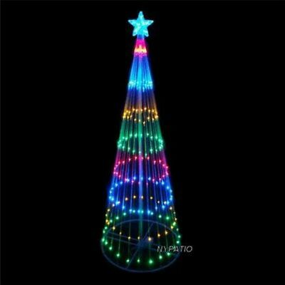 6 FT PRELIT 200 LED LIGHTS INDOOR/OUTDOOR CHRISTMAS TREE YARD DECORATION MULTI