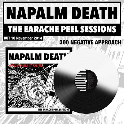 """Napalm Death """"The Earache Peel Sessions"""" 'Negative Approach' Vinyl LP - 300 ONLY"""