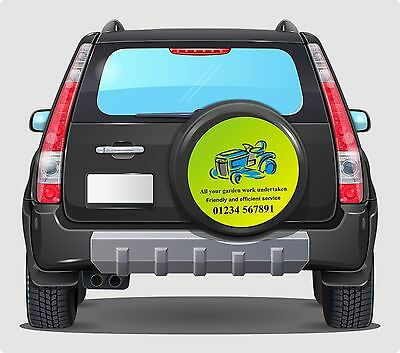 4x4 Spare Wheel Cover Sticker Personalised Custom Business Advertising Graphics
