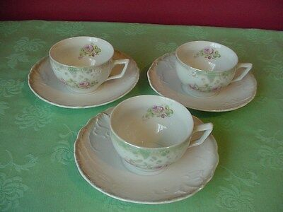 Altenburg Germany Cups and Saucers (All three of them)