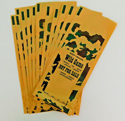 100 1-Lb ground meat Freezer Bags for beef, venison, pork or all wild game meats