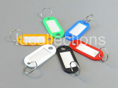 Lot of 100 Key ID Labels Tags with Split Rings Key Chains Key Tags H146-100