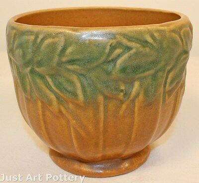 McCoy Pottery Leaves and Berries Pedestal Vase