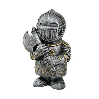 "Elite Axe Guard Medieval Knight of Valor Statue 4.5"" Tall Figurine Miniature"