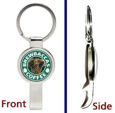 Star Wars Chewbacca Brewbacca Coffee Pendant or Keychain silver bottle opener
