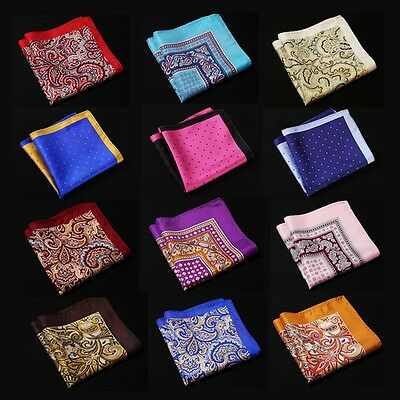 NE Handkerchief 100% Natural Silk Satin Mens Hanky Wedding Party Pocket Square